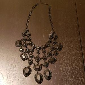 Black Drop Statement necklace